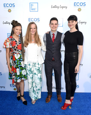CYPRESS, CA - APRIL 28: (L-R) Actor Storm Reid, Lori Woodley, Youth empowerment expert, Shane Feldman and actor Shailene Woodley attend the All It Takes Lasting Legacy event at the headquarters of Earth Friendly Products (ECOS) to celebrate youth leadership on April 28, 2018 in Cypress, CA. (Photo by Vivien Killilea/Getty Images for All It Takes)