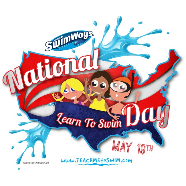 Swimways National Learn to Swim Day™ held on third Saturday of May every year, is dedicated to the importance and benefits of learning to swim. (Photo Credit: Swimways Corp.)