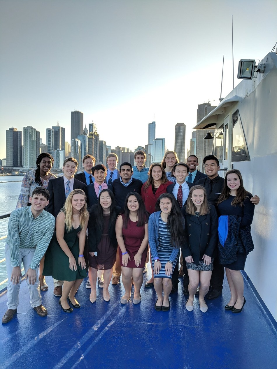 The Elks National Foundation's fifth annual Most Valuable Scholar Leadership Weekend came to a close when the 19 MVS Finalists celebrated their accomplishments during a dinner cruise on Lake Michigan in Chicago on Saturday, April 28, 2018.