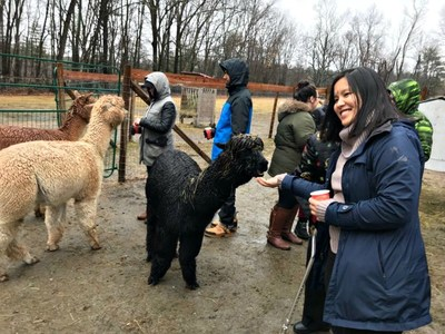 Wounded veterans and their families recently visited Sir Erik of Spudland and his alpaca friends for a day of animal therapy and camaraderie.