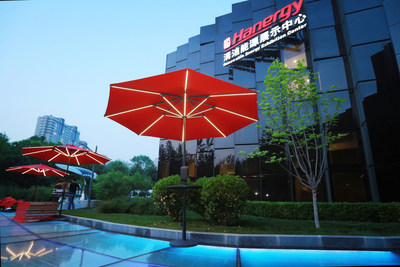 Hanergy's solar-powered umbrella, Humbrella