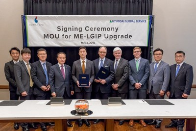 Dorian LPG and Hyundai Global Service Enter into MOU to Retrofit up to 10 VLGCs to use LPG as fuel.