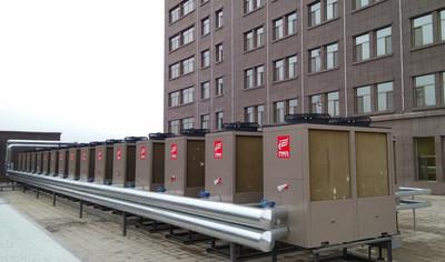 Las aplicaciones de las bombas para calefacción doméstica + agua caliente de PHNIX en China.