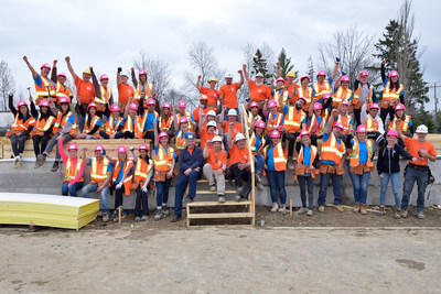 Women take to construction site for Habitat build