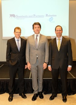 Phil Searle, Murat Yilmazsoy and Craig Ackerman celebrating the establishment of the new company in Turkey