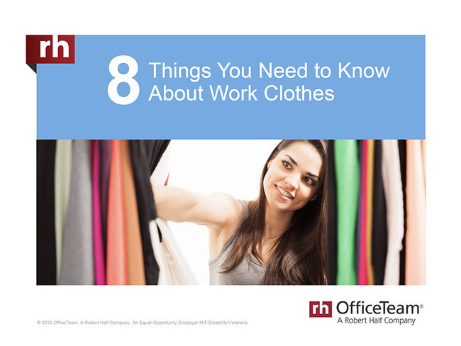 86% of workers and 80% of managers feel clothing choices affect a person's chances of being promoted. Check out this and other work attire stats in the slideshow: https://www.slideshare.net/roberthalf/8-things-you-need-to-know-about-work-clothes.