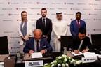 Ma Guolong, CEO of Oriental Pearls (right) and Tonino Lamborghini, President Tonino Lamborghini s.p.a. signing the landmark agreement in Dubai (PRNewsfoto/Oriental Pearls)
