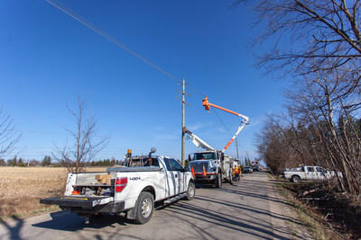 Seventeen Ontario utilities join Hydro One's all hands on deck restoration response following Friday's devastating wind storm (CNW Group/Hydro One Inc.)