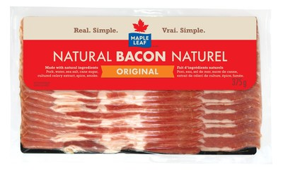 Bacon naturel original Maple Leaf (Groupe CNW/Les Aliments Maple Leaf Inc.)