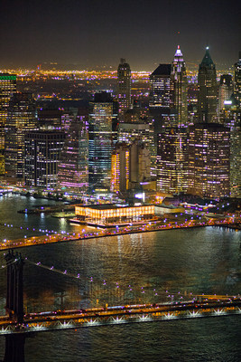 Pier 17 at the Seaport District NYC at Night
