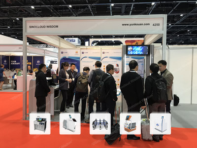 Sinocloud Wisdom unveils Automated Check-in and Baggage Drop-off Robot and Intelligent Check-in Counter at Airport Show 2018, Dubai