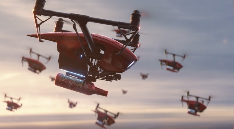 """Budweiser's """"Light Up the FIFA World Cup"""" campaign highlights the most ambitious beer and energy delivery ever, as drones carry Budweiser from the St. Louis Brewery to viewing parties around the world and the Luzhniki Stadium in Moscow."""