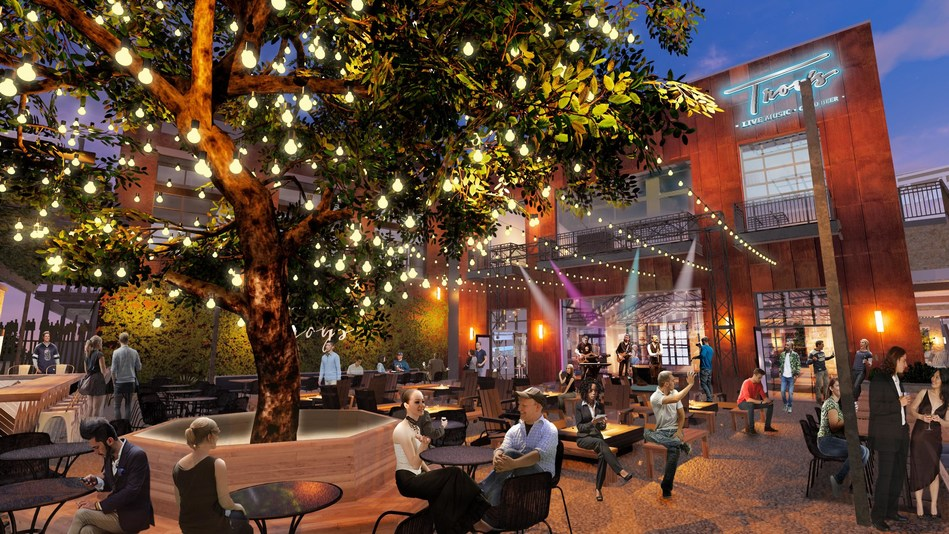 Designed by internationally-acclaimed Jeffrey Beers International, the space will flow from a refined rustic interior inspired from some of the best beer halls in Texas and the country to an expansive, lush outdoor patio space centered around a beautiful Live Oak tree.