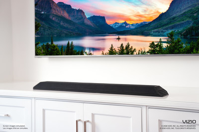 "VIZIO Announces Availability of All-in-One 36"" 2.1 Sound Bar with Built-in subwoofers to deliver Incredible Performance in an Elegant and Space-Saving Package."