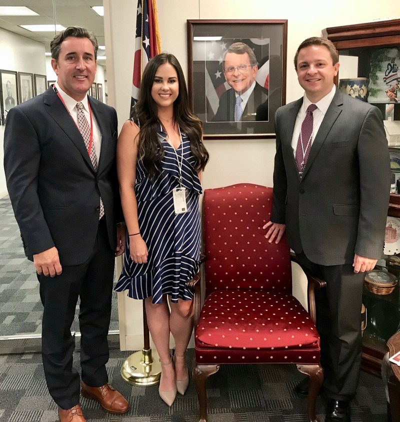 Higbee & Associates staff Mat Higbee, Kelsey Zahner and Paul Hecht at the Ohio Attorney General's office presenting to win the contract for Ohio Revised Code 109.38