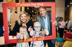 Pictured here from left to right: (Top) Cathy Loblaw, President & CEO of RMHC Canada, George Cohon, McDonald's Canada founder. (Bottom) Logan and Jayden Hickey. (CNW Group/McDonald's Canada)