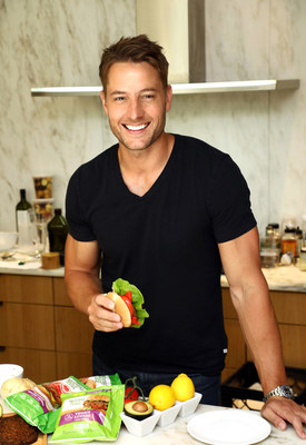 Actor Justin Hartley dines on more than just meat during the summer as he enjoys the benefits of plant protein from MorningStar Farms veggie burgers in New York City on May 8, 2018. (Sara Jaye Weiss/Kellogg Company)