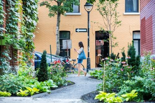 Ruelle verte du Plateau-Mont-Royal, crédit Toma Iczkovits (Groupe CNW/Ville de Montréal - Arrondissement du Plateau-Mont-Royal)
