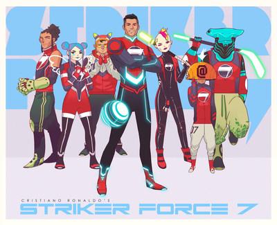 Primer avance de los trabajos de animación de STRIKER FORCE 7 de Cristiano Ronaldo (PRNewsfoto/Graphic India)