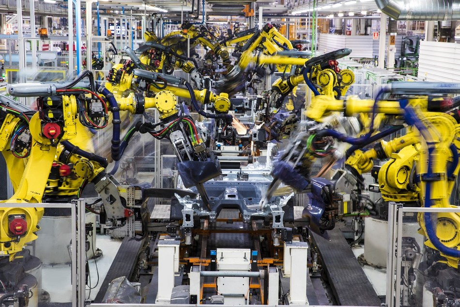 When they start to dance, each robot can make up to 16,000 spot welds every day on the bodies of future cars (PRNewsfoto/SEAT)