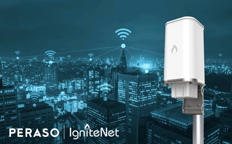 Peraso and IgniteNet Drive the Fixed Wireless Market with Best-in-Class 60GHz Products and Features (CNW Group/Peraso Technologies Inc.)