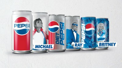 Pepsi and Diet Pepsi 12-oz. Limited-Edition Music Icon cans featuring Michael Jackson, Ray Charles and Britney Spears