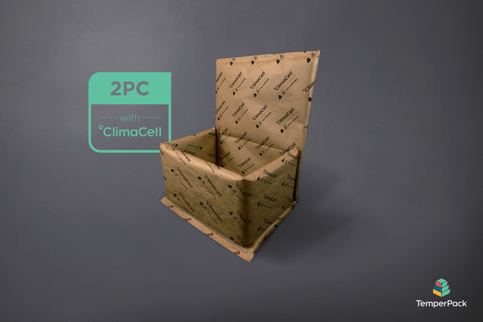 The TemperPack 2-Piece Box Liner with ClimaCell is the first certified fully curbside recyclable box liner.