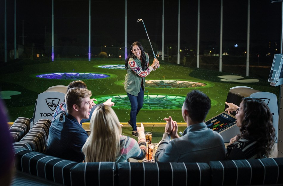 Group enjoys evening outing at Topgolf