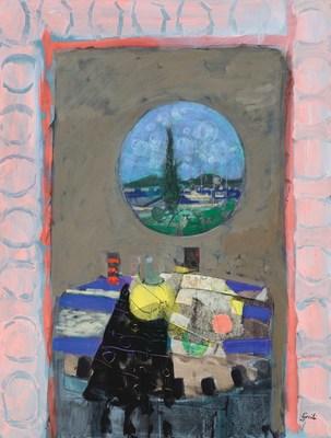 Gilles Gorriti_La Tache Jeune_mixed Media on Canvas_50F_Findlay Galleries