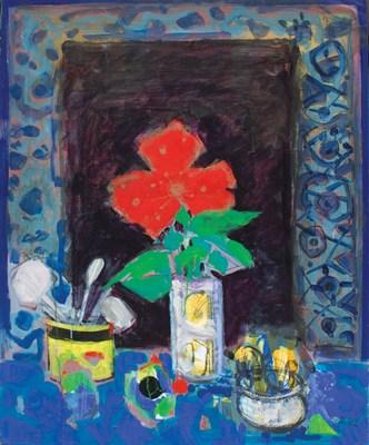 Gorriti_La Fleur Rouge_Mixed Media on Canvas_40F_Findlay Galleries