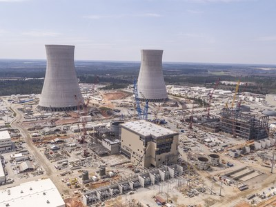 Vogtle 3 & 4 aerial view as of Spring 2018.