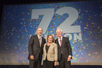 Left to right: George Aguel, President and CEO, Visit Orlando; Orange County Major Teresa Jacobs; Don Enger; Chairman of the Board of Visit Orlando and Executive Vice President, Tishman Hotel Corporation