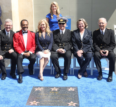 """Princess Cruises and the original cast of the """"The Love Boat"""" were presented a Hollywood Walk of Fame honorary star plaque today in recognition of their contributions to the history of television and support for the preservation of the Walk of Fame."""