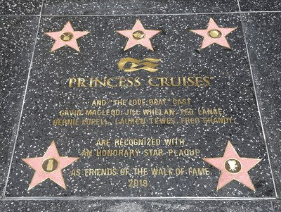 """Today, Princess Cruises and the original cast of """"The Love Boat"""" receive Hollywood Walk of Fame honorary star plaque."""