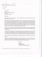 Letter to Elaine Wynn