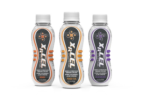 XRCEL Athlete Fuel is a revolutionary extended release carbohydrate supplement formulated with patented pH and temperature responsive micro-gel technology developed by New World Pharmaceuticals, LLC.