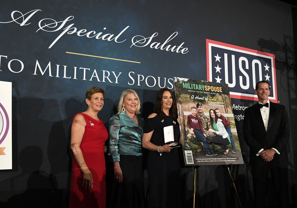 Mrs. Ellen Dunford, wife of Marine Gen. Joseph Dunford, Chairman of the Joint Chiefs of Staff, named Army spouse Krista Simpson Anderson as the Armed Forces Insurance 2018 Military Spouse of the Year®.