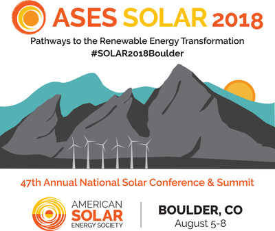 SOLAR 2018, the 47th annual ASES National Solar Conference and Summit, is set for Boulder, Colorado, August 5-8, and promises a full agenda of fast-paced presentations and dialog among participants from every corner of the solar field, nearly every state and a few other countries, too.