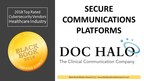 Doc Halo Ranks Top in Secure Communications Platforms, 2018 Black Book Market Research Cybersecurity User Survey