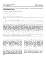 "Journal of Medical Phyto Research ISSN: 2577-6541 Vol. 1, Article 2, (8-23) Doi: 10.31013/1002b ""Measuring the bioactivity of phytocannabinoid cannabidiol from cannabis sources, and a novel non-cannabis source."""