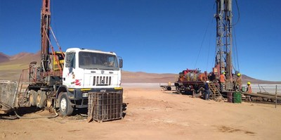 A rotary drill to the Hombre Muerto North Lithium project to complement the diamond drill already at site.