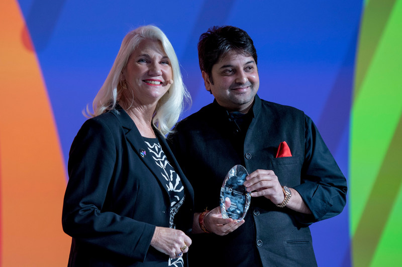 Indian Entrepreneur & Chairman of the Maharashtra State Khadi & Village Industries Board; Vishal Chordia, Awarded EO Global Citizen of the Year 2018 (PRNewsfoto/Entrepreneurs' Organization (EO))