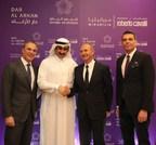 L-R Italian Ambassador in KSA, Dar Al Arkan Chairman, Roberto Cavalli CEO, DAAR CEO (PRNewsfoto/Dar Al Arkan)