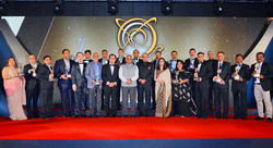 Winners of the Asia Pacific Entrepreneurship Awards 2018 in India poses with General Vijay Kumar Singh, Minister of State for External Affairs, Dr Fong Chan Onn, Chairman of Enterprise Asia and President of Enterprise Asia, Mr. William Ng. The Asia Pacific Entrepreneurship Awards is the region's largest and most important awards for entrepreneurship. Over 1,000 recipients have been recognised since 2007, in what is one of the toughest competitions of its kind for entrepreneurs