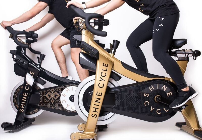 Custom-branded indoor cycles enhance the Shine Cycle brand. (PRNewsfoto/Indoor Cycle Design)