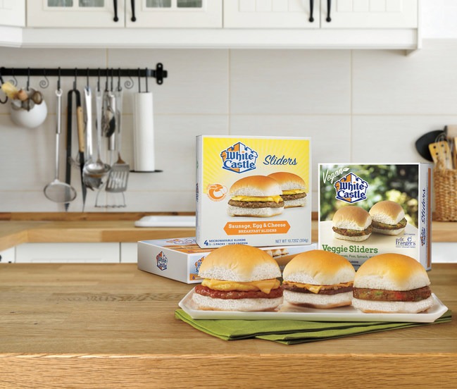 White Castle's new breakfast and vegan-friendly retail sliders add to a full line-up of microwaveable sliders, enjoyed in minutes. The newest breakfast options include four-packs of the Turkey Sausage, Egg White & Asiago Sliders featuring turkey patties from Butterball®; the Sausage, Egg and Ghost Pepper Cheese Sliders; and the Chorizo, Egg and Smoked Gouda Sliders. Cravers can also enjoy White Castle's popular vegetarian menu items at home with the addition of the four-pack Veggie Sliders and Black Bean Sliders to frozen food aisles, featuring Dr. Praeger's® slider patties.