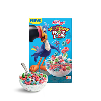 Kellogg's® Froot Loops® fans are in for a wild ride as new Kellogg's® Wild Berry Froot Loops® –  the brand's first new flavor in 10 years, featuring both a new taste and shape –  lands on shelves just in time for summer.