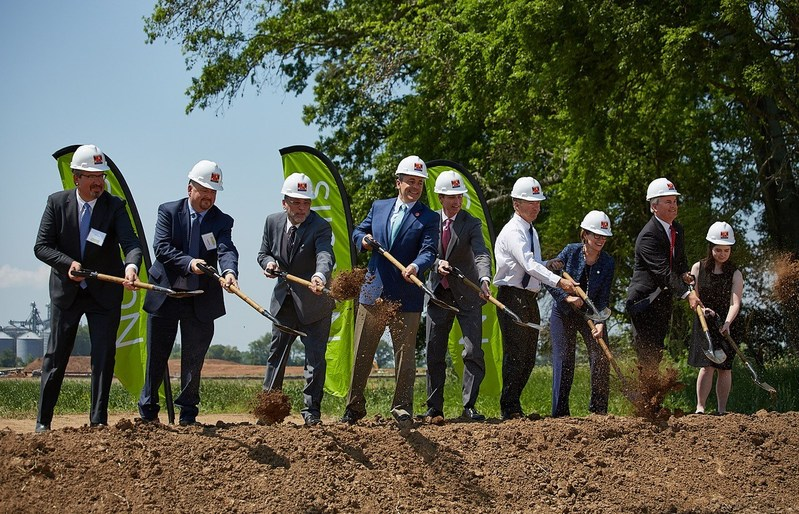 Novelis Inc. breaks ground on $305 million automotive aluminum facility in Guthrie, Kentucky.