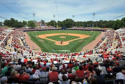 Ole Miss fans cheer on the nationally-ranked No. 8 Ole Miss Rebels college baseball team at Swayze Field in Oxford, Miss. Rebel infielder Ryan Olenek is a finalist for the 2018 C Spire Ferriss Trophy, which annually honors the top college baseball player in Mississippi.