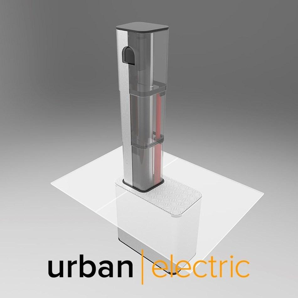 Urban Electric UEone pop-up charge point (PRNewsfoto/Urban Electric)